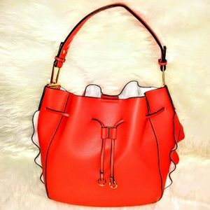 (NEW)! (2 n 1)Vivid! Coral Hobo Bag! :-)